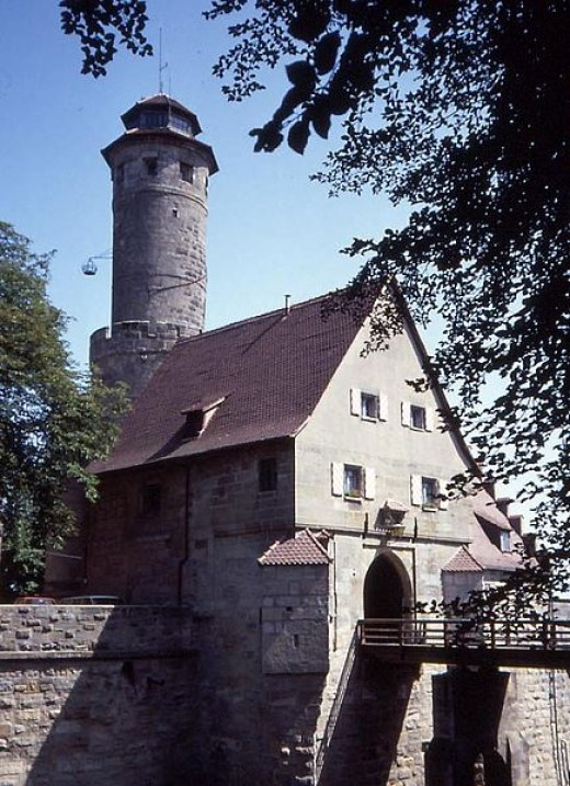 The Atleburg in Bamberg is the castle that has a restaurant and a gorgeous view of the city.