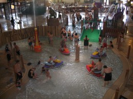 Wading pool for the younger crowd
