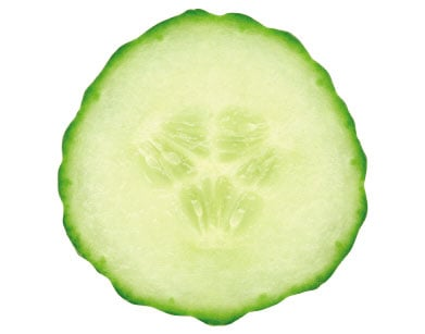 Sliced cucumber is proved to soothe and refresh tired eyes.