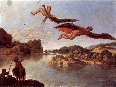 The myth of Dedalus and Icarus serves as a parable with Doctor Faustus.