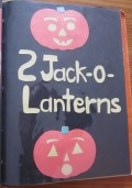 2 Jack O'Lanterns Glowing in the Dark!