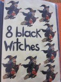 8 Black Witches Flying on Their Brooms!