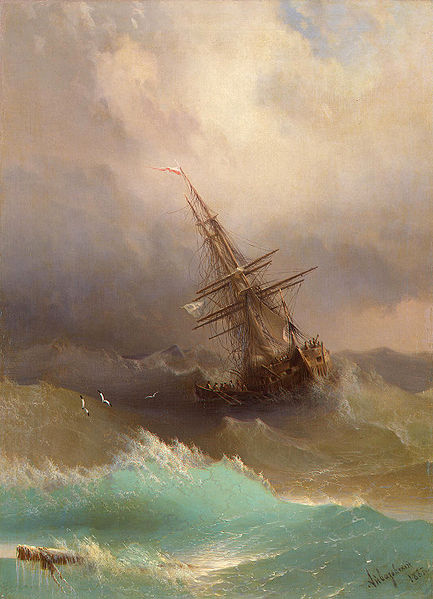 Painting by Ivan Aivazovsky 1887