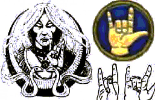 Hands Signs 1: Signs of Satan http://www.jesus-is-savior.com/False%20Religions/Wicca%20&%20Witchcraft/signs_of_satan.htm