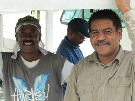 Captain Tyrone and a previous shipmate. These two men were very helpful during our fishing trip. They truly make fishing easy for the inexperienced.