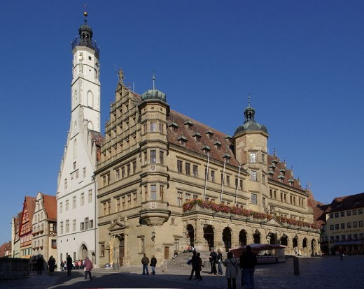 The Rathaus (Town Hall) and the Marktplaz ( the Main Square and market place)