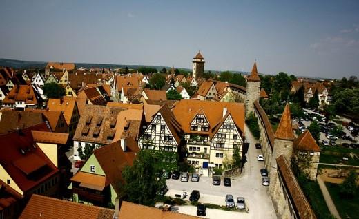 The city of Rothenburg ob der Tauber