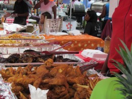 A spectrum of good food was for sale by various vendors. A barbecue cook off was also held.