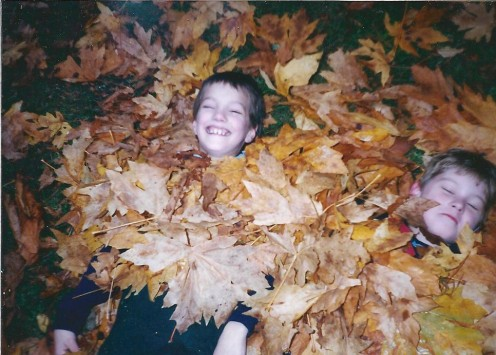 """""""Little children feet,  Crunch and swish  on  leafy piles, High they fly on breeze of gleeful laughter. ~ Autumn Manifestations"""