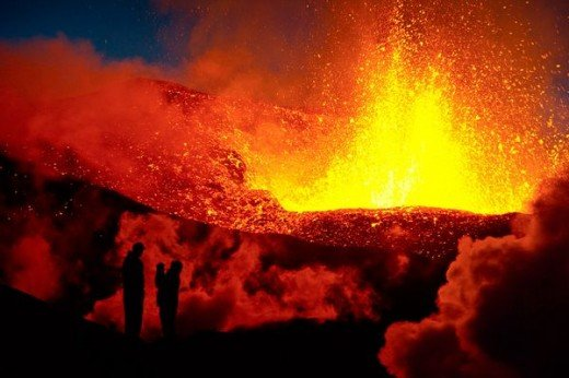 Red-hot lava spews from the jaws of a fiery volcano. But what causes volcanoes?