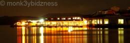 night shot at the island