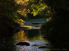 Autumn evening at Travertine Creek, Chickasaw National Recreation Area.
