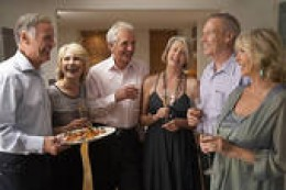 A great time is always the norm at any elegant dinner party. Notice the designer wardrobe of these people, who to the untrained eye, look common, look closer. They are important people. Only important people are ever seen at elegant dinner parties.