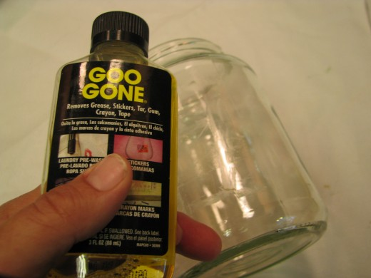 Remove Label Glue: Get the label glue off with Goo Gone and razor blade.