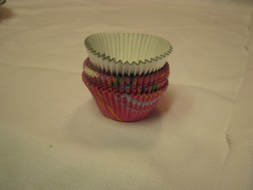 Candy Cups. Step Five (fancy way):  Spoon into candy cups.  Put into freezer until set (about 3-5 minutes).