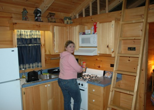 Michelle Cooking Trout!