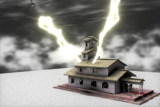 This is not an attack on the church this is lightning striking a building. The church is not the building. It is the people, not shown in this picture!