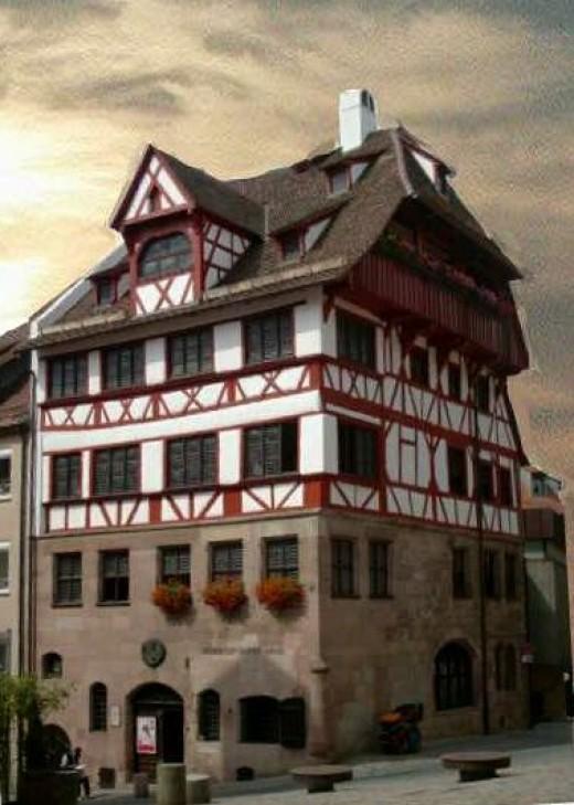 Durerhaus - the home of Germany's painter, Albrecht Durer, in Nuremberg, Germany.
