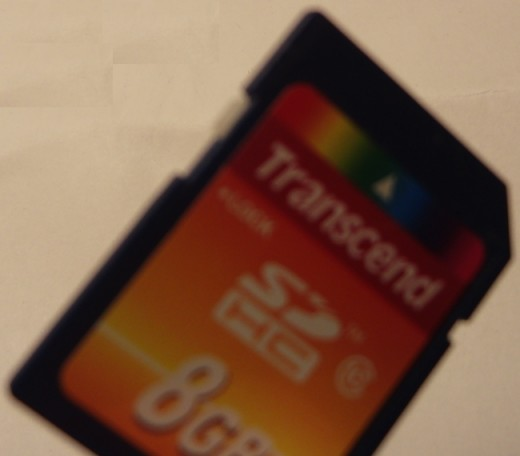Transcend SDHC 8 GB memory card