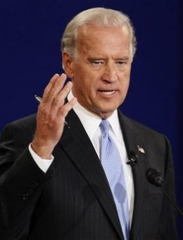 Joe Biden hits his stride during the Vice Presidential debate. Although he repeatedly mentioned his running mate and supposed hopeful 'boss', the unspoken reality remaied: OBAMA WHO?