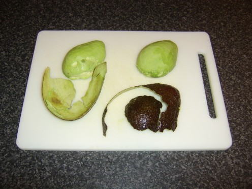The skin should easily peel free from a ripe avocado in large pieces