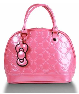 She might like this one -- the signature bow is here and the Hello Kitty is embossed on the handbag.