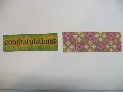Patterned cardstock with Yellow cardstock shape