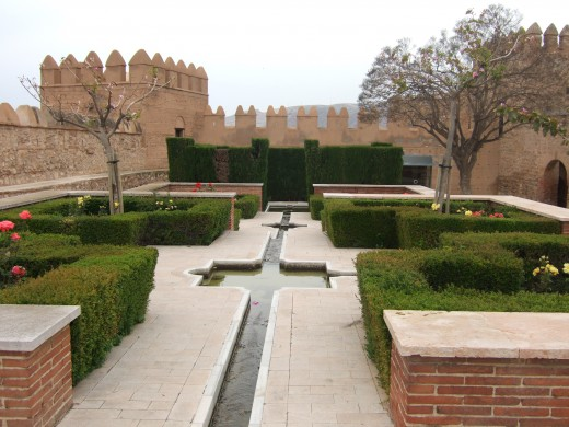 Gardens in Almeria Castle