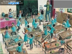 Condition of a classroom in the absence of teacher