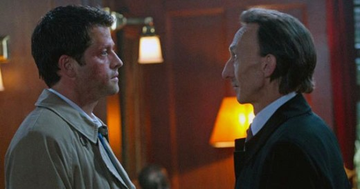 Misha Collins as Castiel and Julian Richings as Death