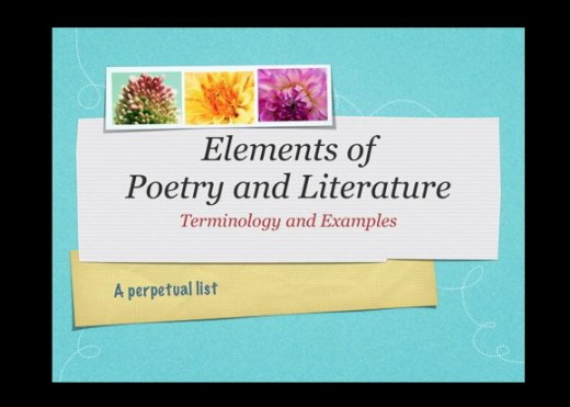 Literary Elements And Devices In Poetry And Literature Terminology