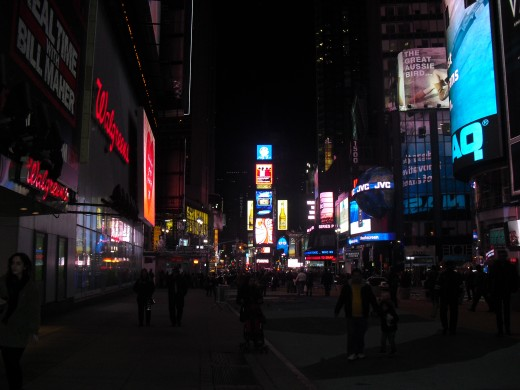 This is a photo of Time Square in New York City. Can you come up with a 1000 word story with it? They say a picture is worth a thousand words. Let's put that to the test...