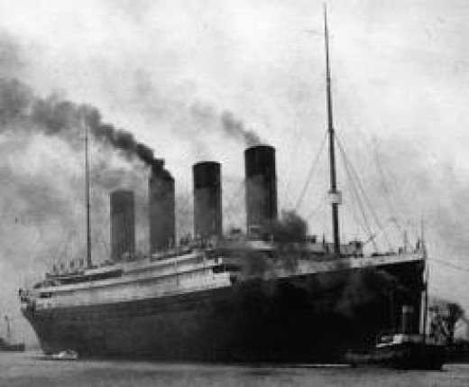 With a blast on her foghorn, the gulls shrieking around her tall masts, funnels wafting smoke, the ill fated liner was nudged into the waters of the English Channel.