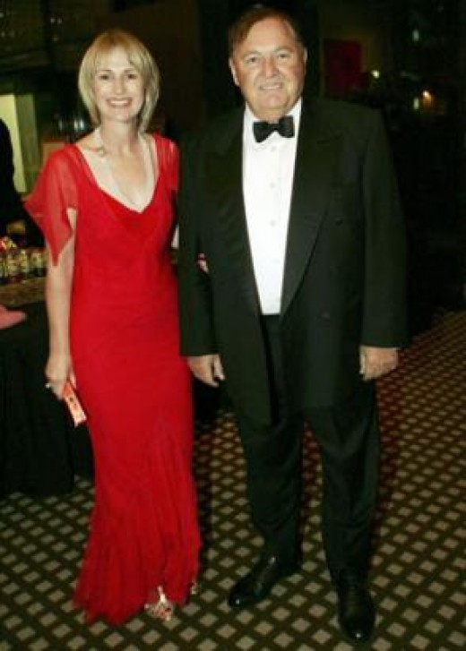 Alan Bond and girlfriend Di Bliss
