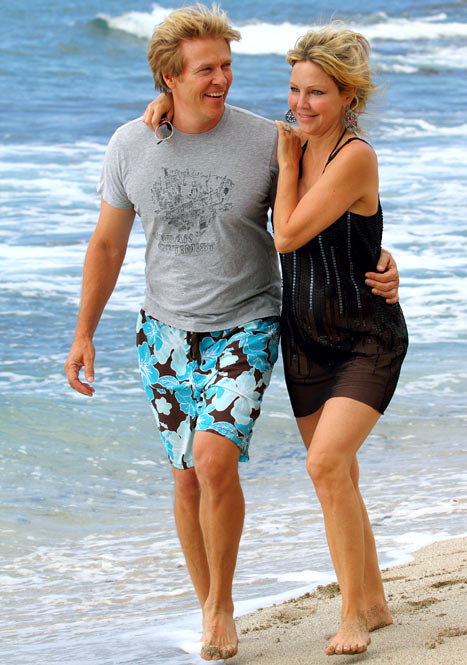Heather Locklear  with her fiancee Jack Wagner