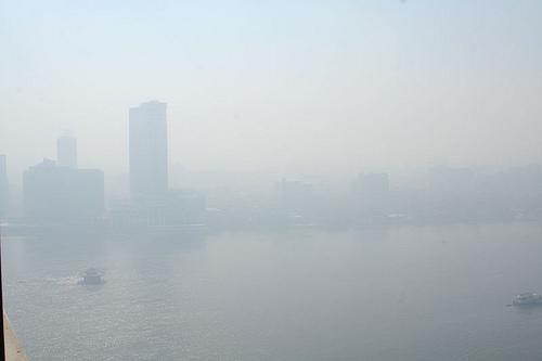 Air pollution in a major city ...