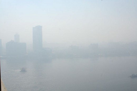 Air pollution in a major city ...