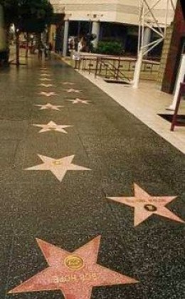 A glimpse of the Hollywood Walk of Fame