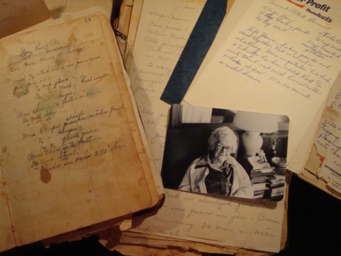 My Grandmama Nell and all her recipes.