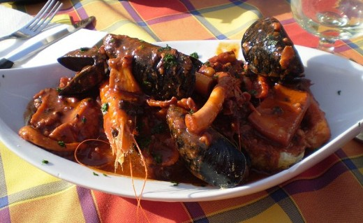 Cacciucco Tuscan fish stew