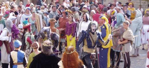 Bastille day celebrations in Josselin