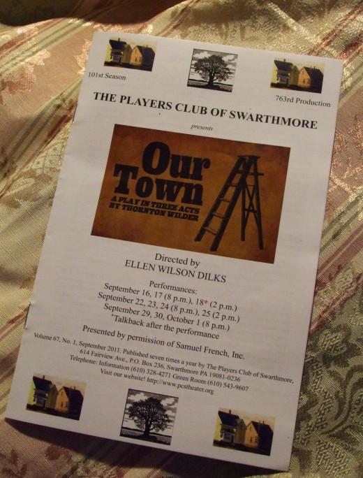 Program of the Players Club of Swarthmore, a community theater company near Philadelphia..
