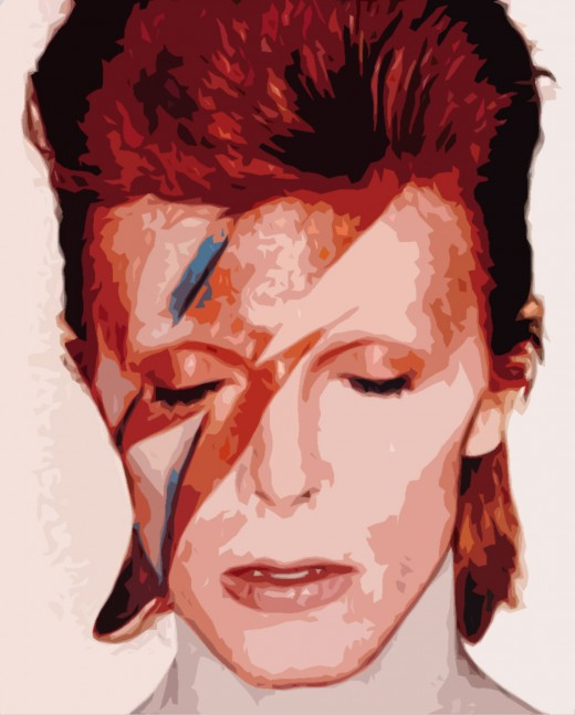 Bowi in the seventies as Ziggy Stardust