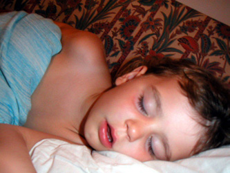 A parent's reward: A healthy, happy sleeping child.