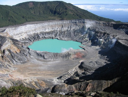 This is the crater of Poas Volcano.  People get lost here and around other volcanoes in this country.  Don't get separated from your group.