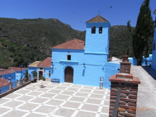 Santa Catalina Church in Juzcar, Andalucia