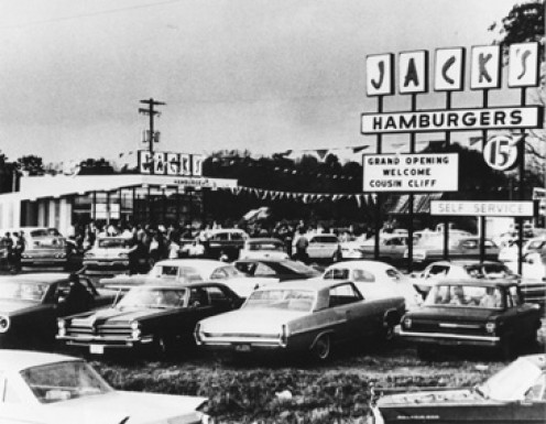 This is a scene from Jack's (resturant) Grand Opening in Jasper, Alabama in 1967.