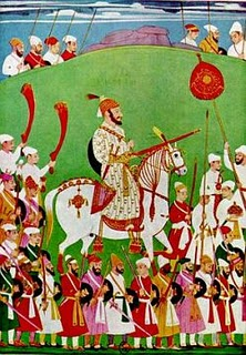 A painting of the great warrior Shivaji, by Mir Mohamed.