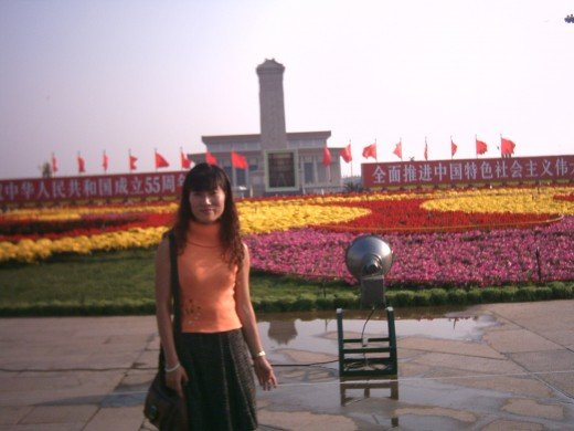 Me at Tian An Men Square on 2004 National Day