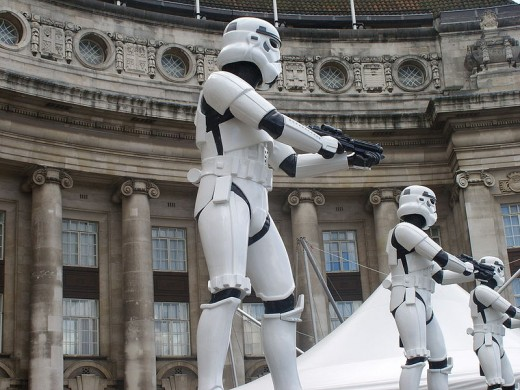Guarding the secrets of Star Wars...